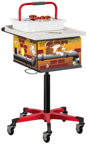 Pediatric Alley Cats and Dogs Phlebotomy Cart