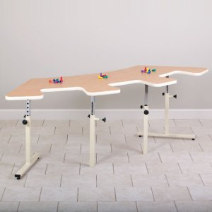 Quarter Round Physical Therapy Table with Cut-Outs