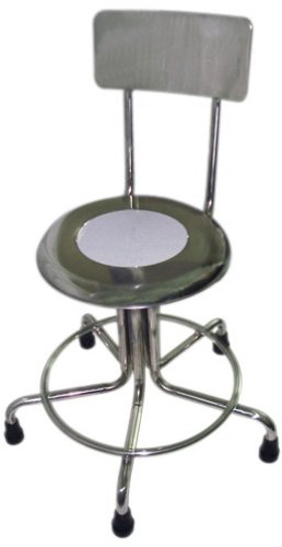 MRI Non-Magnetic Adjustable Height Doctor Stool, w/ Back