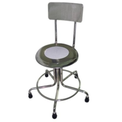 MRI Non-Magnetic Adjustable Height Doctor Stool, w/Back, 21-27""