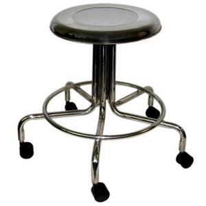 "MRI Non-Magnetic Adj. Height Doctor Stool, 21"" to 27"" w/ Casters"