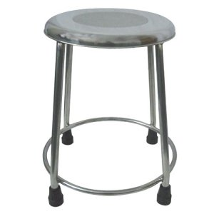 MRI Non-Magnetic Fixed Height Seat Stool with Rubber Tips
