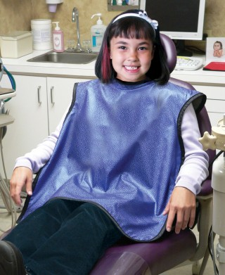 Dental Guard Pediatric X-ray Apron - Feather