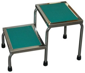MRI Non-Magnetic Narrow Double Step Stool
