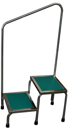 MRI Non-Magnetic Narrow Double Step Stool with Handle