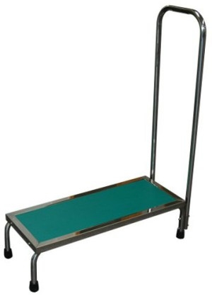 "MRI Non-Magnetic Step Stool with Single 41"" Handrail"