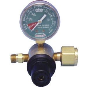 MRI Non-Magnetic Pre-Set Oxygen Regulator, Nut & Nipple