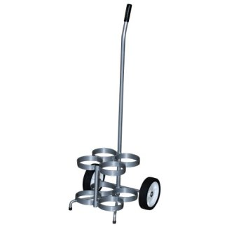 MRI Non-Magnetic Oxygen Cart for 4 Cylinders
