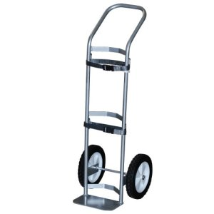 MRI Non-Magnetic Deluxe Oxygen Cart for M/M60 Cylinders