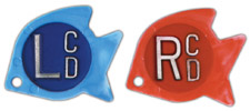 "R & L 5/8"" Tropical Fish X-ray Film Markers"