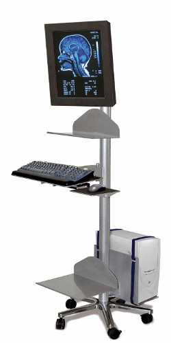 Mobile Workstation with CPU Holder - CLOSEOUT SPECIAL