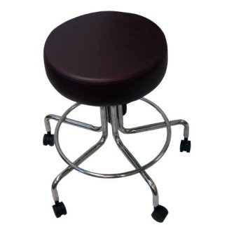 "Non-Magnetic MRI Adjustable Stool, 22"" to 28"" - Burgundy"
