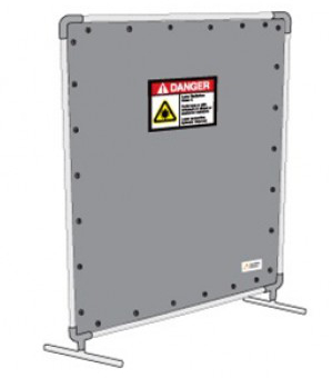 6 x 7 ft Laser Safety Barrier