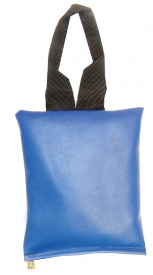 "Patient Positioning Sandbag 5 LB  - 9"" x 9"" - Blue"