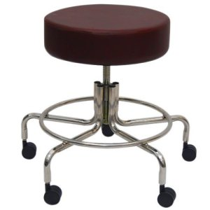 "Non-Magnetic MRI Adjustable Stool, 16"" to 22"" - Burgundy"