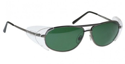 Industrial Metal Glassworking Safety Glasses - BoroView 3.0 - Pewter