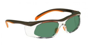 Model 206 Glassworking Safety Glasses - BoroView 3.0 - Orange and Brown with Clear Side Shields