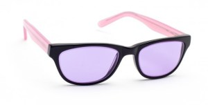 Model Geek Cat 01 Glassworking Safety Glasses - Phillips 202 ACE - Black / Pink