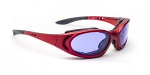 Model 1171 Glassworking Safety Glasses - Polycarbonate Sodium Flare - Red