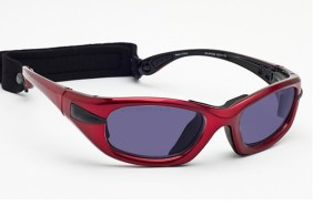 Model EGM Glassworking Safety Glasses - Polycarbonate Sodium Flare - Red