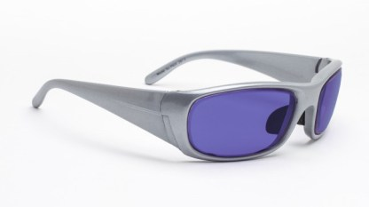 Model P820 Glassworking Safety Glasses - Polycarbonate Sodium Flare - Silver