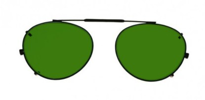 Round Clip-On Glassworking Safety Glasses - BoroView 3.0