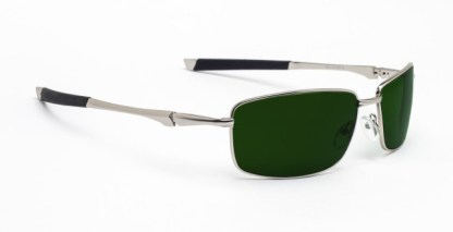 Model 116 Glassworking Safety Glasses - Green BoroView 5.0 - Silver