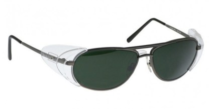 Industrial Metal Glassworking Safety Glasses - BoroView 5.0 - Pewter