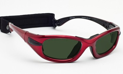 Model EGM Glassworking Safety Glasses - BoroView 5.0 - Red