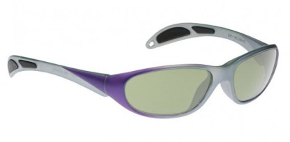 Model 208 Glassworking Safety Glasses - Light Green Filter - Purple Gray