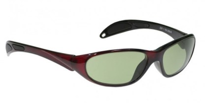 Model 208 Glassworking Safety Glasses - Light Green Filter - Red