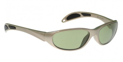 Model 208 Glassworking Safety Glasses - Light Green Filter - Taupe