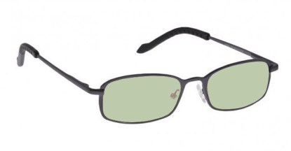 Executive Metal Glassworking Safety Glasses - Light Green Filter