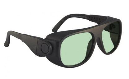 Model 66 Glassworking Safety Glasses - Light Green Filter - Black