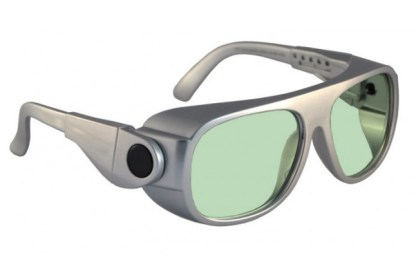 Model 66 Glassworking Safety Glasses - Light Green Filter - Silver