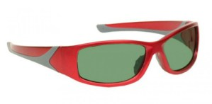Model 808 Glassworking Safety Glasses - Light Green Filter - Red