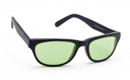 Model CAT01 Glassworking Safety Glasses - Light Green Filter - Matte Black