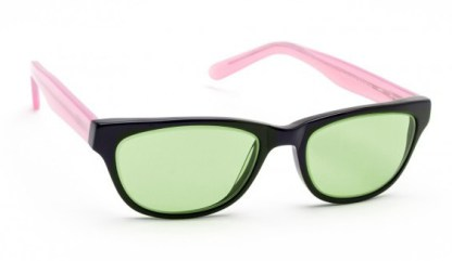 Model CAT01 Glassworking Safety Glasses - Light Green Filter - Black and Pink