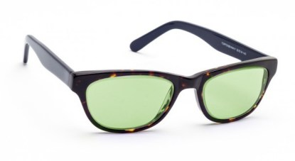 Model CAT01 Glassworking Safety Glasses - Light Green Filter - Tortoise
