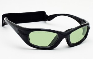 Model EGM Glassworking Safety Glasses - Light Green Filter - Black