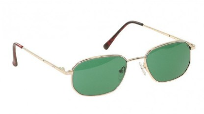 Economy Gold Metal Glassworking Safety Glasses - Light Green Filter