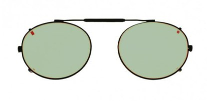 Oval Clip-On Glassworking Safety Glasses - Light Green Filter