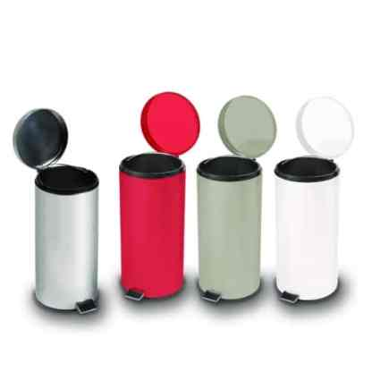 Round Steel Trash Can / Medical Waste Recepticle