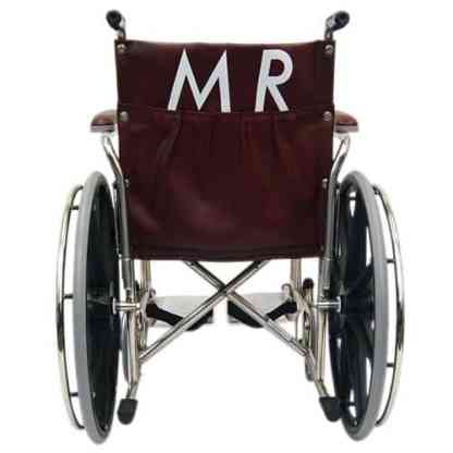 "22"" Wide Non-Magnetic MRI Wheelchair w/ Detachable Footrests"