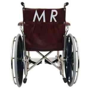 "24"" Wide Non-Magnetic MRI Wheelchair w/ Detachable Footrests"
