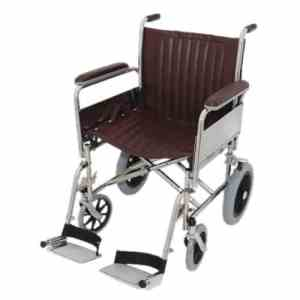 """20"""" Wide MRI Non-Magnetic Transport Chair with Detachable Footrests"""