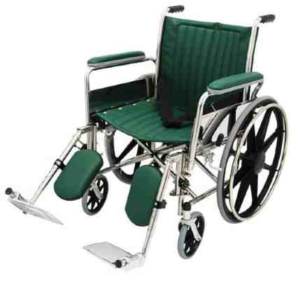 "20"" Wide Non-Magnetic MRI Wheelchair w/ Detachable Elevating Legrests - Green"