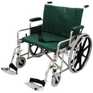 """24"""" Wide Non-Magnetic MRI Bariatric Wheelchair w/ Detachable Footrests"""