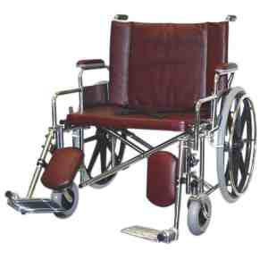 "26"" Wide Non-Magnetic MRI Bariatric Wheelchair w/ Detachable Elevating Legrests"
