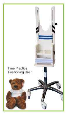 Pedia-Poser Pediatric X-Ray Positioning Chair - Bear Included